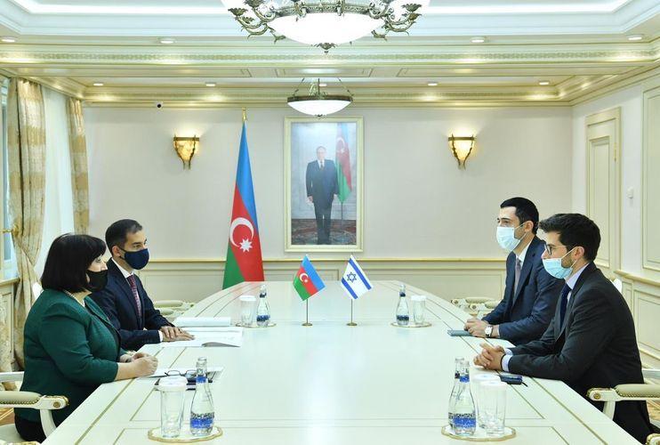 Speaker of Azerbaijani Parliament receives Israeli Ambassador