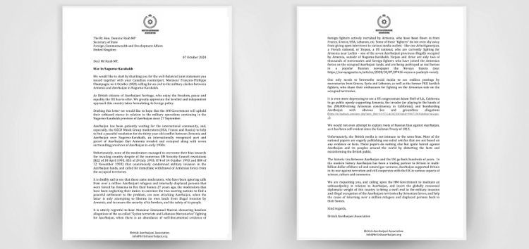 Azerbaijanis called on official London to support Azerbaijan's just position