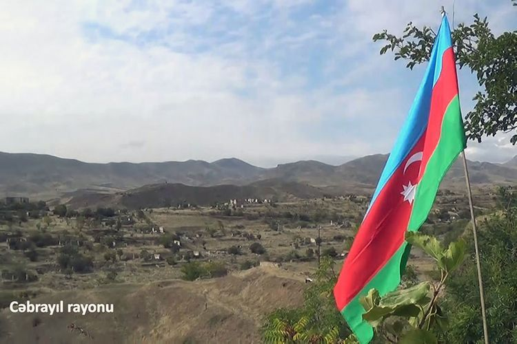 Flag of Azerbaijan is waving in the liberated territories of the Jabrayil region - VIDEO