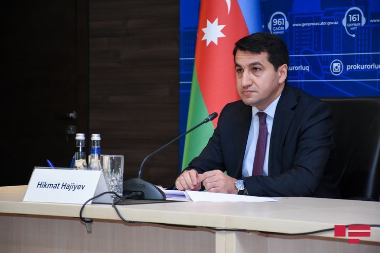 """Hikmet Hajiyev: """"Materials submitted by Armenia in connection with the rocket attack on the church are contradictory"""""""
