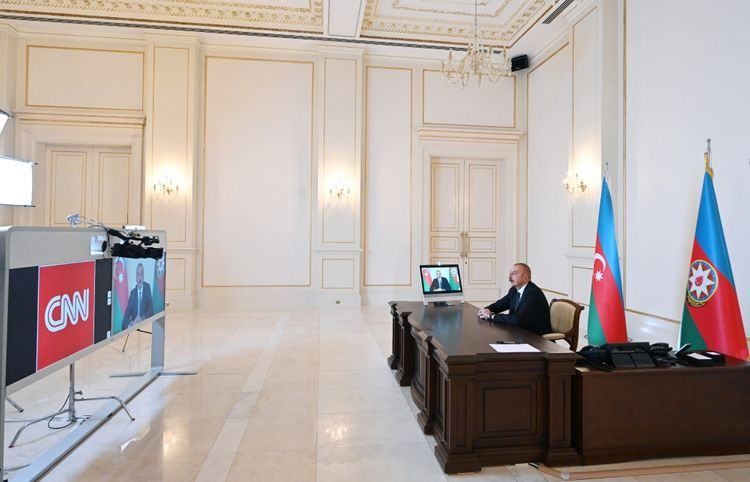 """CNN International TV channel's """"The Connect World"""" program broadcast interview with President Ilham Aliyev"""