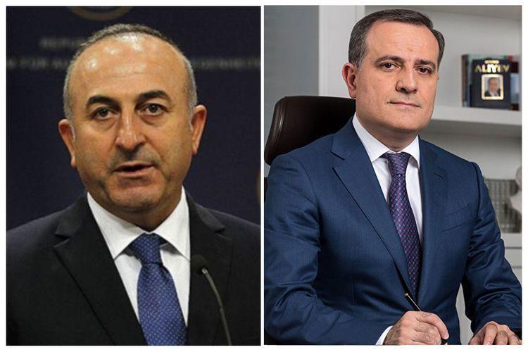 Azerbaijani MFA releases information on telephone conversation between Jeyhun Bayramov and Mevlut Cavusoglu - <span class=