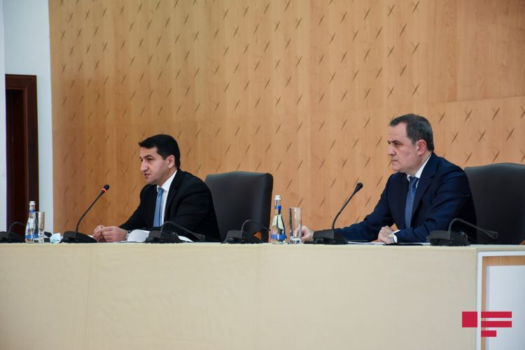 """Hikmat Hajiyev: """"Armenia's attack continues even after entry into force of temporary ceasefire"""""""