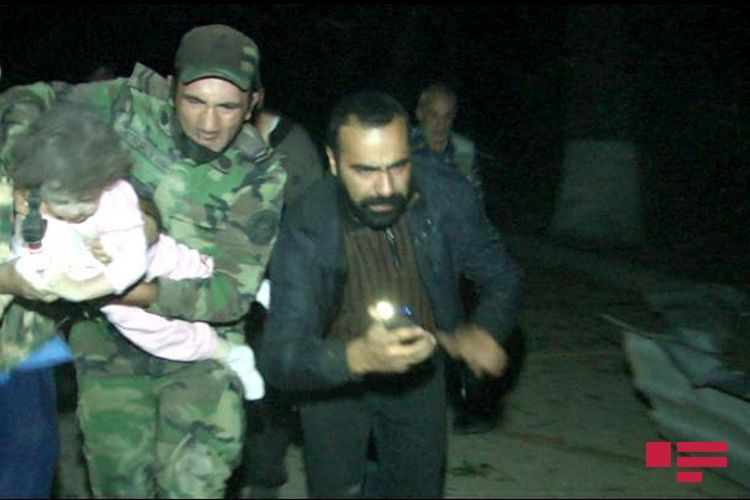 17 wounded and 5 bodies removed from the rubble of houses in Ganja city destroyed by Armenian rocket fire, Azerbaijan