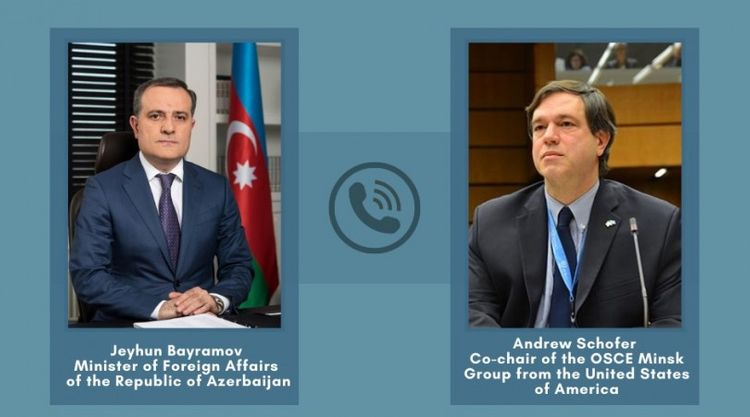 Telephone conversation took place between Minister Jeyhun Bayramov and OSCE Minsk Group co-chair of the US Andrew Schofer