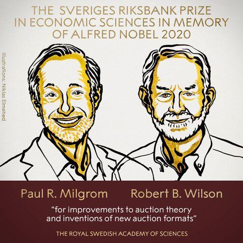 Winners of 2020 Nobel Prize in Economic Sciences announced