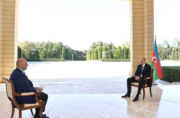 President Ilham Aliyev was interviewed by Turkish Haber Turk TV  - <span class=