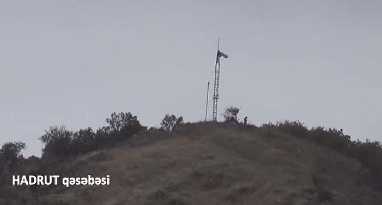 Azerbaijani flag is waving in the center of Hadrut - VIDEO