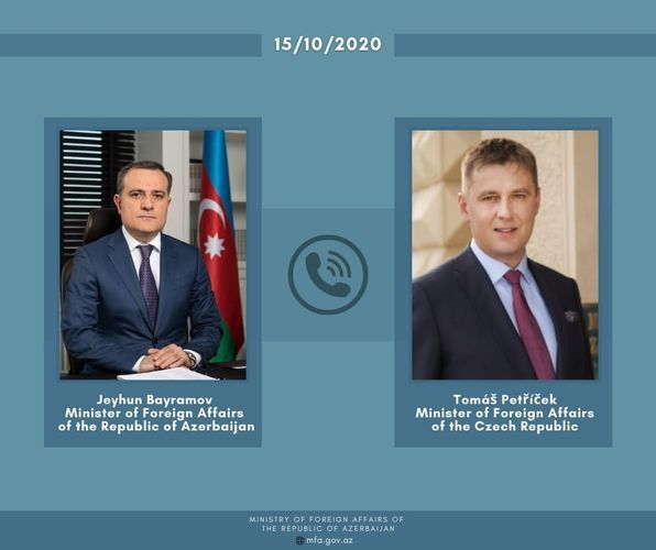 Azerbaijani FM informed his Czech colleague of the continuous violation of the humanitarian ceasefire by Armenia