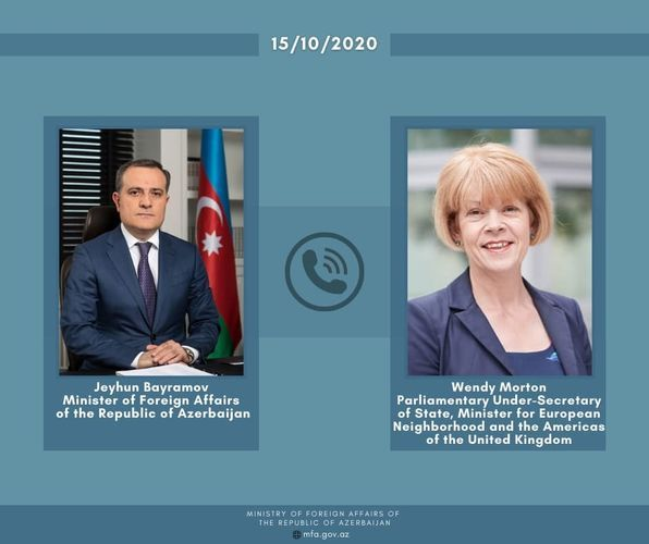 Azerbaijani FM hold phone conversation with UK Minister for European Neighborhood and the Americas