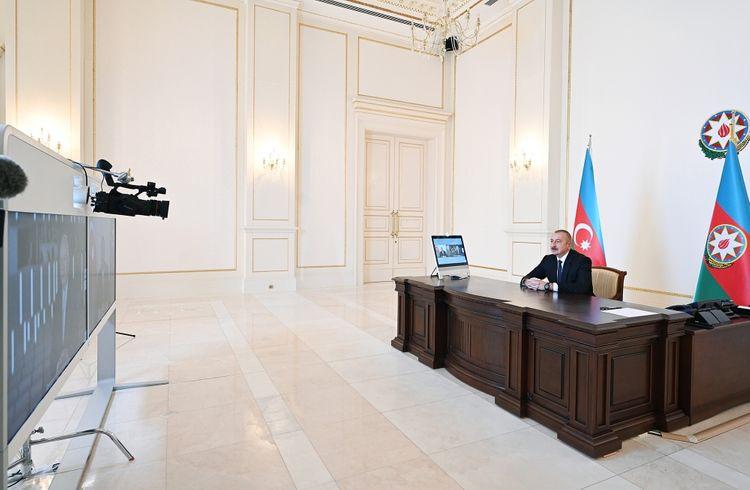 "President Ilham Aliyev gave interview to Director General of ""Rossiya Segodnya International News Agency"" media holding Dmitry Kiselev for RIA Novosti agency - <span class="