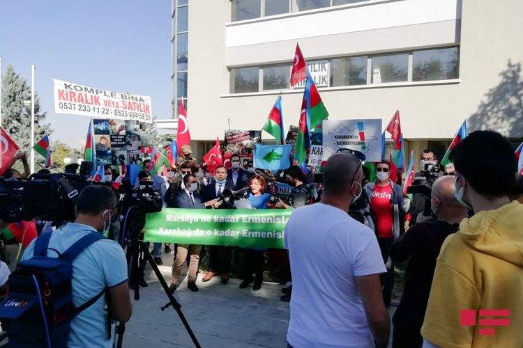 Protest rally held in front of Embassy of France in Turkey - <span class=