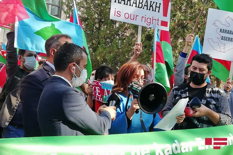 Protest rally held in front of Embassy of France in Turkey - <span class='red_color'>VIDEO</span>