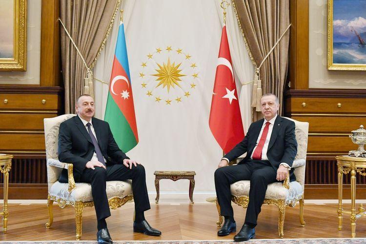 """President Ilham Aliyev: """"Recep Tayyip Erdogan is a world leader"""""""