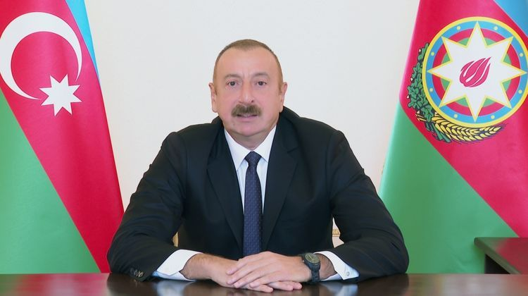 """President Ilham Aliyev: """"Where do so many weapons and hardware come from to poor Armenia?"""""""