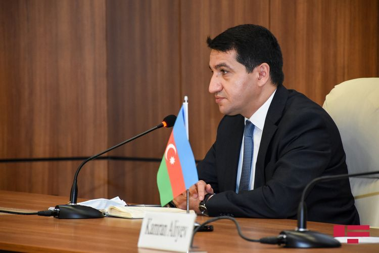"""Hikmat Hajiyev: """"In blatant violation of humanitarian truce armed forces of Armenia used their fighter aircraft to bomb the positions of Azerbaijan"""