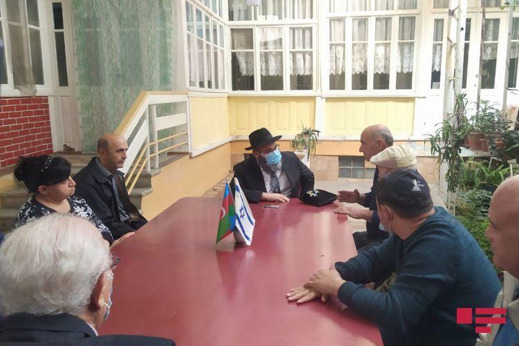 Chief rabbi of Ashkenazis in Azerbaijan met with members of Jewish Religious Community in Ganja - <span class=