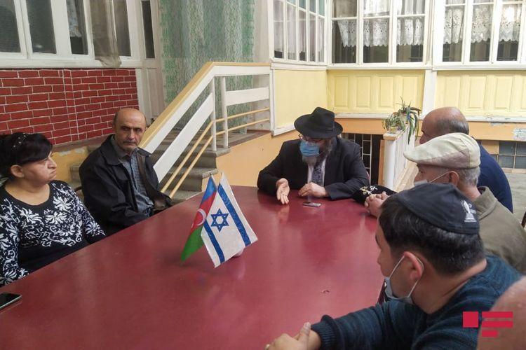 Chief rabbi of Ashkenazis in Azerbaijan met with members of Jewish Religious Community in Ganja - <span class='red_color'>PHOTO</span>