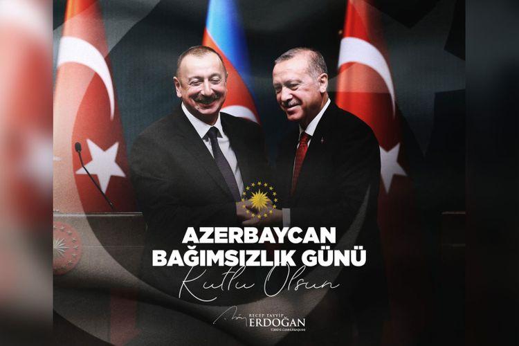Ərdoğan Azərbaycan xalqını təbrik edib