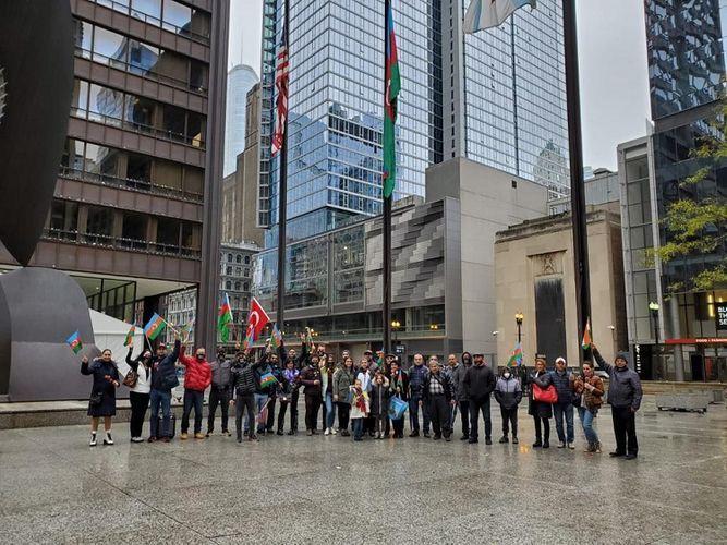 В Чикаго прошла акция в поддержку Азербайджана