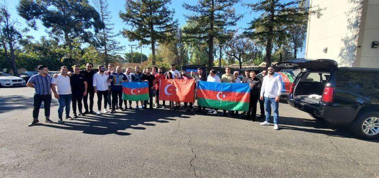 Car protest held in California against Armenian terror in Azerbaijan