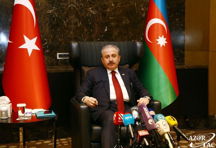 Turkish parliament speaker: Aggressor Armenia must withdraw from Azerbaijani territories