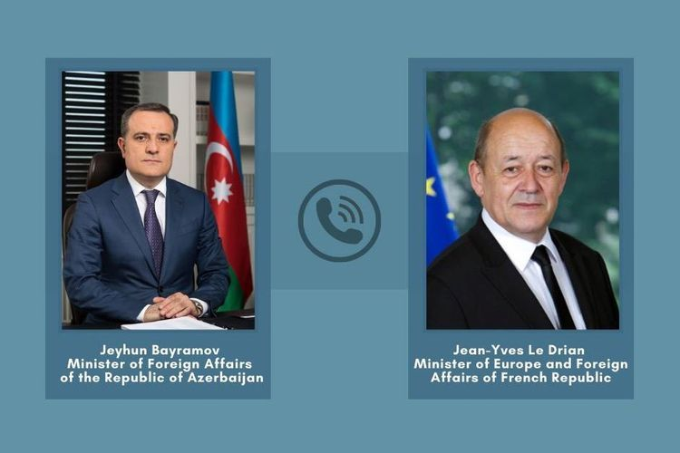 Telephone conversation held between Azerbaijani FM and French counterpart