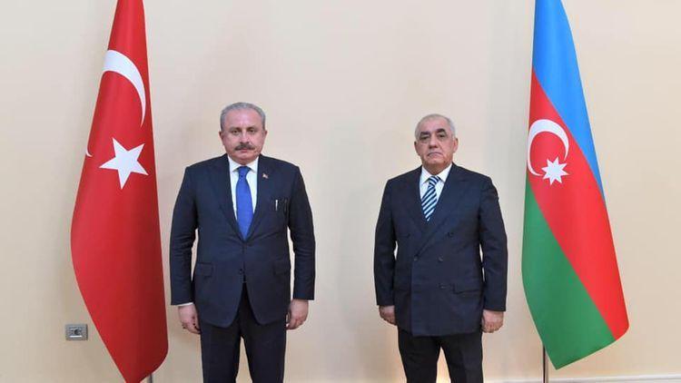 Председатель турецкого парламента встретился с премьер-министром Азербайджана - ОБНОВЛЕНО
