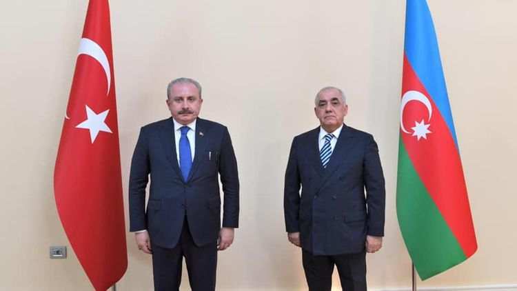 Chairman of Turkish Parliament meets with Azerbaijani PM Ali Asadov