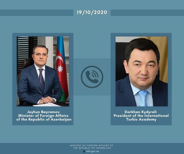 Azerbaijani FM holds phone conversation with President of the International Turkic Academy