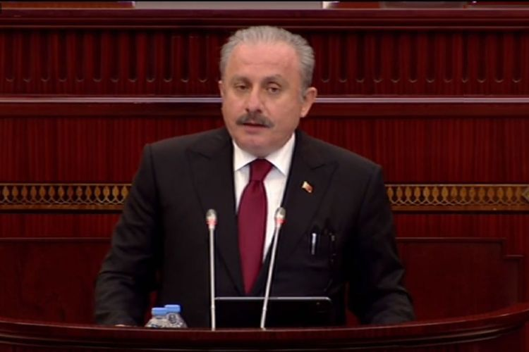 Chairman of TGNA delivers a speech in the Azerbaijani Parliament - UPDATED-1