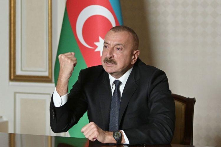 """Prezident İlham Əliyev: """"Düşmənin başını yaran yumruğumuz bizim birliyimiz, məqsədyönlü fəaliyyətdir"""""""