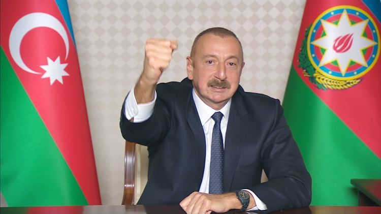 """President of Azerbaijan: """"So far, the enemy's 241 tanks have been destroyed, 39 tanks were taken as military trophy"""""""