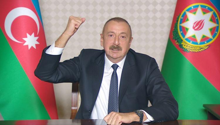 """Azərbaycan Prezidenti: """"Düşmən bizim qarşımızda acizdir. Düşmənin belini qırırıq, qıracağıq!"""""""