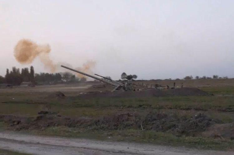 Gecə və gündüz artilleriya atışları - VİDEO