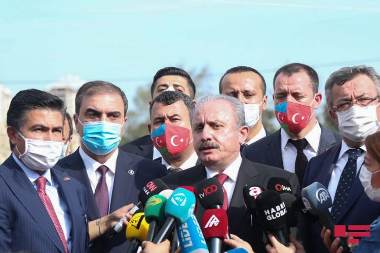 """Turkish Parliament Speaker: """"We will convey the righteous war of brotherly Azerbaijan to the whole world"""""""