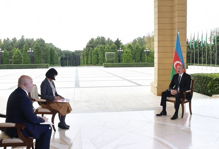 """President of Azerbaijan: """"If Armenia makes constructive steps and liberate territories of course, we will open all communications"""""""