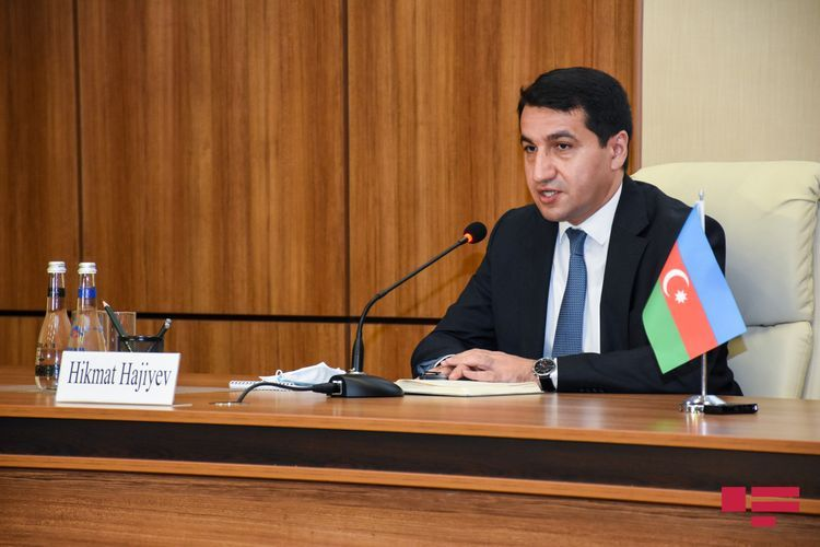 """Hikmat Hajiyev: """"We condemn that French journalists have been subjected to pressure of Armenian lobby and threatened"""""""