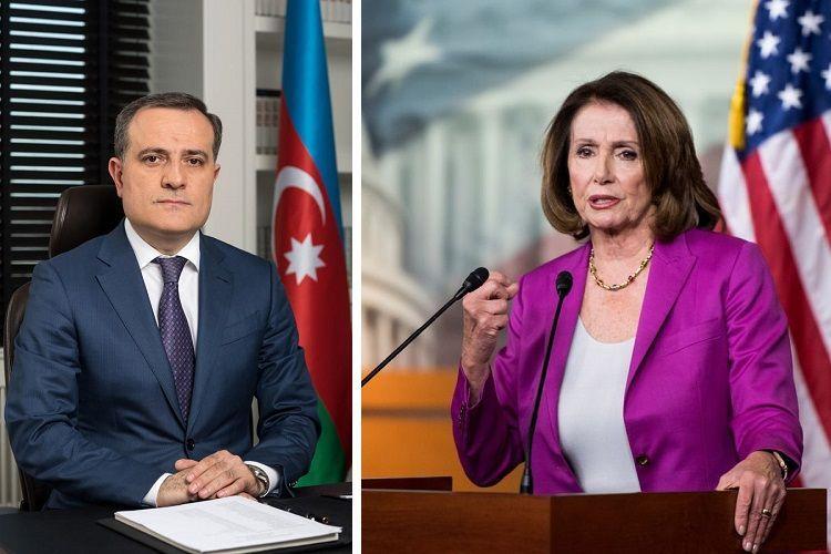 Джейхун Байрамов обсудил карабахский конфликт со спикером Палаты представителей Конгресса США