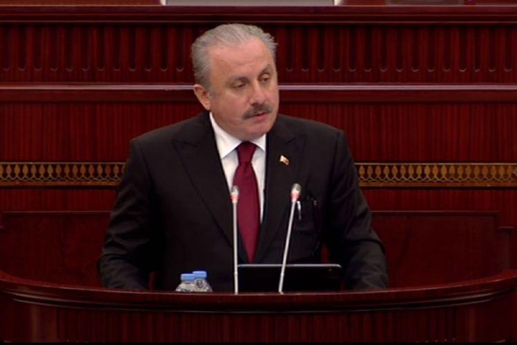 """Mustafa Şentop: """"BMT-ni işğallara səssiz qalmamağa çağırıram"""""""