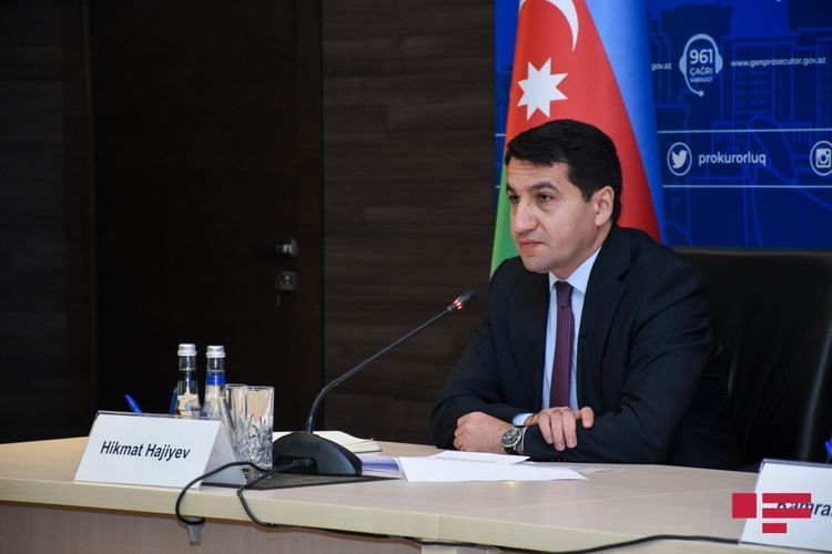 """Hikmat Hajiyev: """"Aim of the opposite side is to provoke the Azerbaijan Army to open fire at the territory of Armenia"""""""