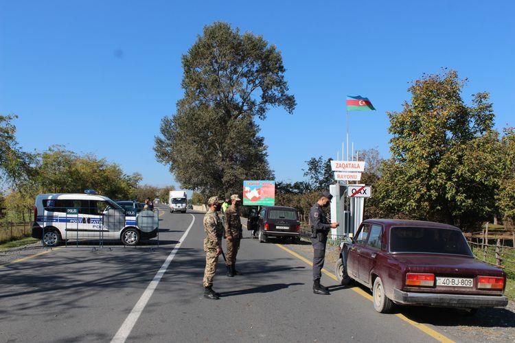 Qax və Zaqatala rayonlarının giriş-çıxışlarında karantin postları qurulub
