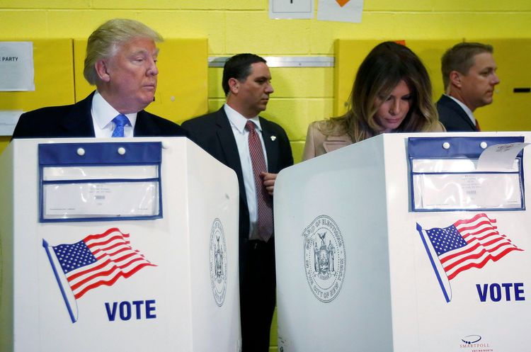 Trump casts vote at county main library, departs for rally in North Carolina