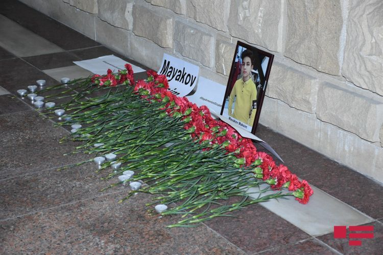 Memory of a 13-year-old Russian citizen, a victim of the Armenian terror in Ganja, was commemorated in front of the Russian embassy - PHOTO