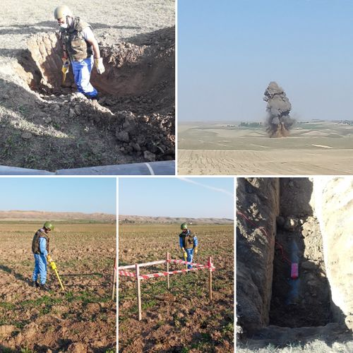 9 unexploded ordnance and 31 exploded shell remnants were found in the frontline regions - PHOTO