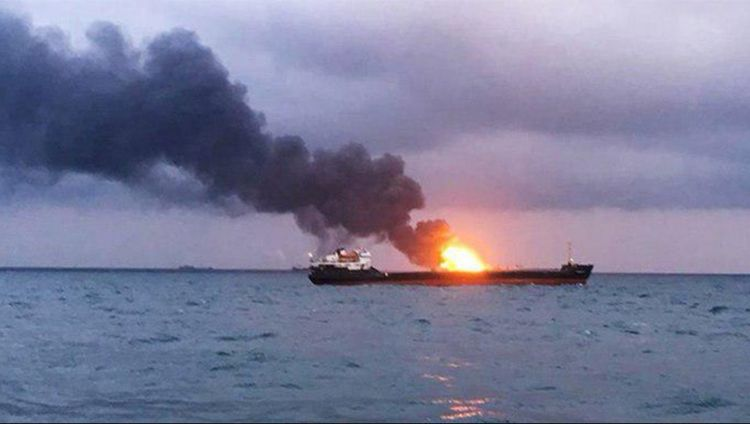 В Азовском море на российском танкере «Генерал Ази Асланов» произошел взрыв