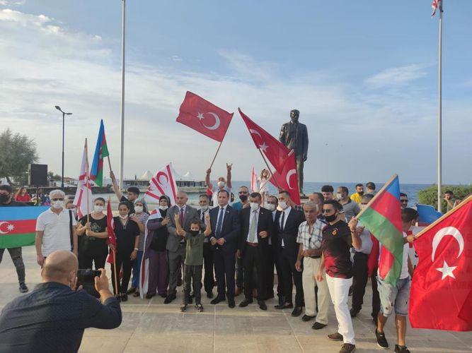 Şimali Kipr Respublikasında Qarabağa dəstək mitinqi keçirilib - FOTO