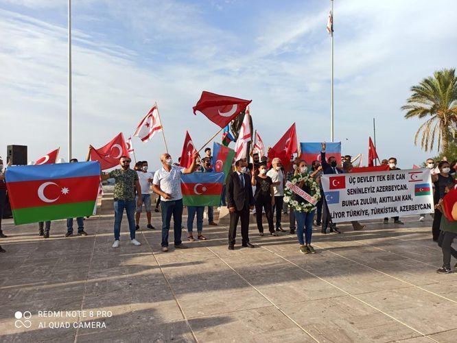 В Турецкой Республике Северного Кипра проведен митинг в поддержку Карабаха – ФОТО