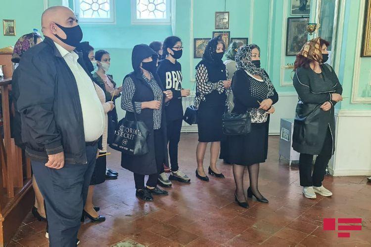 Memorial service for 13-year-old Artur Mayakov, killed as a result of Armenian terrorism in Ganja, being held