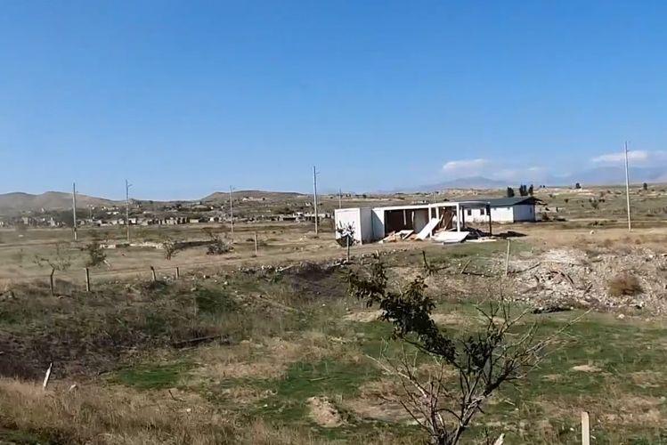 Видеокадры освобожденных от оккупации сел Джабраильского и Зангиланского районов - ВИДЕО